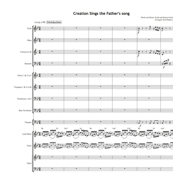 Creation Sings - Orchestral Set