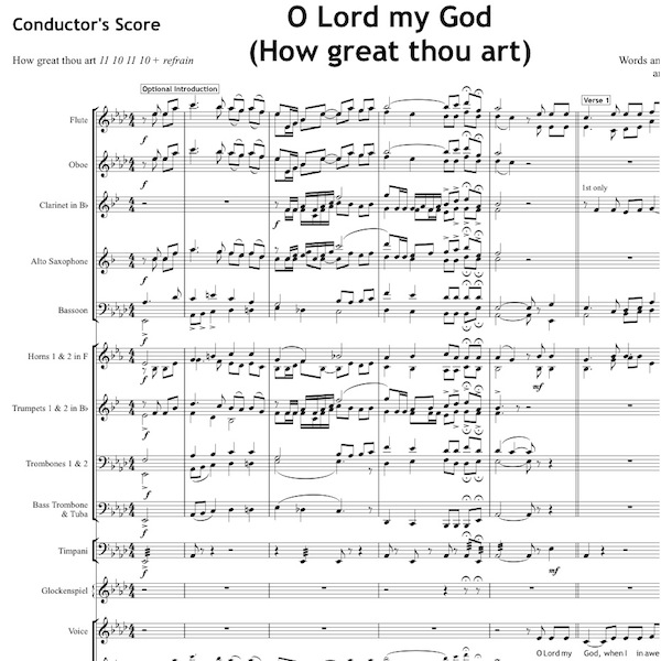 O Lord my God - Orchestral Set
