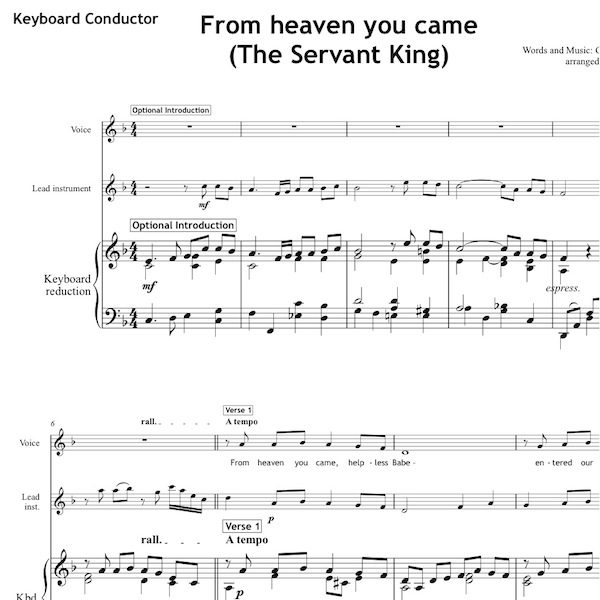 From heaven you came - Worship Set