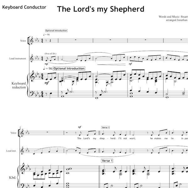 The Lord S My Shepherd Worship Set All Souls Music