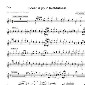 great is thy faithfulness violin sheet music pdf