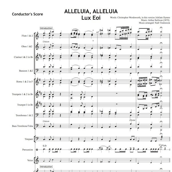 Alleluia Alleluia Hearts to Heaven - Individual Instruments