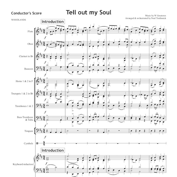Tell out my soul - Orchestral Set
