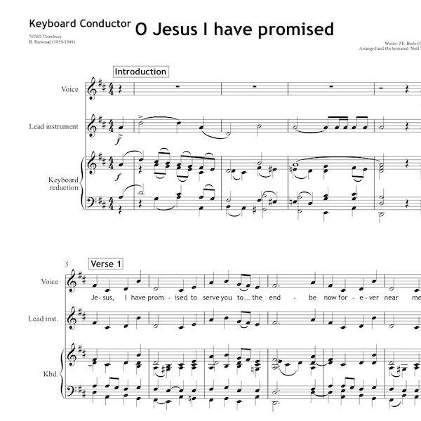 O Jesus I have promised - Worship Set