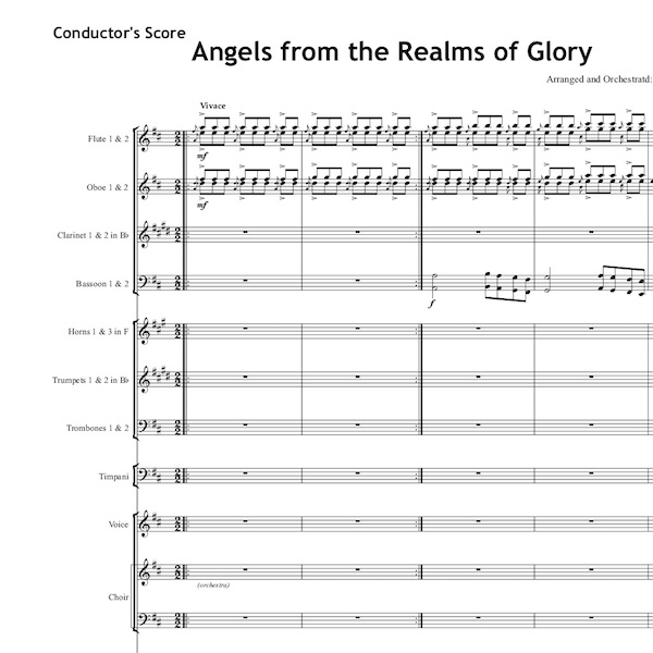 Angels from the Realms of Glory - Individual Instruments