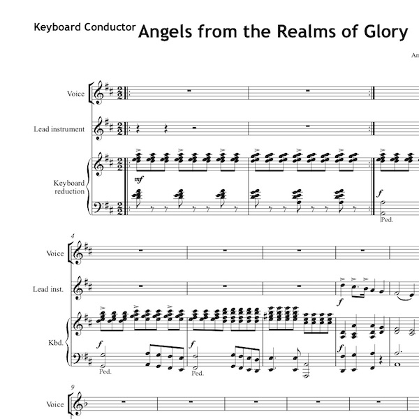 Angels from the Realms of Glory - Worship Set